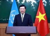 Pham Binh Minh envoie un message vidéo à la 77e session de la CESAP