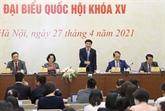 Annonce de la liste officielle de 868 candidats en lice pour 500 sièges dans la XVe AN