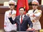 Lettre de félicitations au président de l'Assemblée nationale, Vuong Dinh Huê