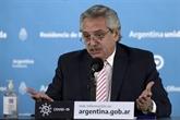 Le président argentin atteint de COVID-19