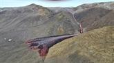 L'éruption volcanique s'étend avec une nouvelle source de lave