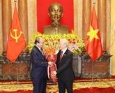 Cérémonie de transfert de fonctions entre les présidents du Vietnam