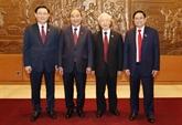 Félicitations adressées aux nouveaux dirigeants du Vietnam
