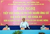 Le président Nguyên Xuân Phuc rencontre des électeurs de Hô Chi Minh-Ville