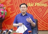 Le président de l'ANVuong Dinh Huê à Hai Phong