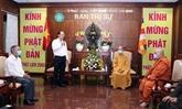 Les autorités de HCM-Ville saluent l'anniversaire de la naissance de Bouddha