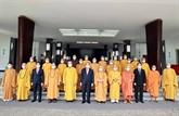 Vesak : le président Nguyên Xuân Phuc reçoit une délégation de l'Église bouddhique du Vietnam