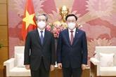Le président de l'Assemblée nationale du Vietnam reçoit l'ambassadeur de Chine