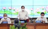 Le Premier ministre Pham Minh Chinh travaille avec Hô Chi Minh-Ville