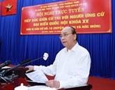 Le chef de l'État rencontre des électeurs de Hô Chi Minh-Ville