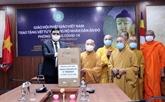 La Sangha bouddhiste du Vietnam au côté du peuple indien