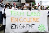 Des techniciens de laboratoires manifestent dans plusieurs villes