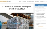 Un site web australien salue les mesures de réponse au COVID-19 du Vietnam