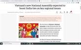 Des médias indiens font l'éloge des préparatifs des élections législatives du Vietnam
