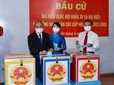 Le président Nguyên Xuân Phuc aux urnes à Hô Chi Minh-Ville