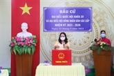 La vice-présidente Vo Thi Anh Xuân se rend aux urnes à An Giang