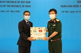 Le ministère vietnamien de la Défense fait don au peuple indien