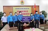 Remise de dons pour soutenir les travailleurs touchés par le COVID-19 à Bac Ninh