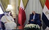Les chefs de la diplomatie égyptienne et qatarie discutent de la coopération