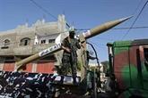 Roquettes et drone : parade militaire du Hamas après la trêve avec Israël