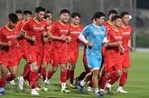 Football : dépistage du COVID-19 avant le match amical Vietnam - Jordanie