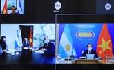 Vietnam et Argentine cherchent des moyens de renforcer leurs relations bilatérales