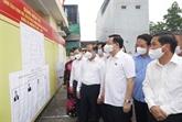 Le président de l'AN inspecte les préparatifs des élections à Tuyên Quang