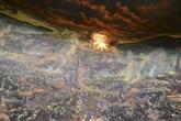 Une peinture géante représentant le champ de bataille de Diên Biên Phu
