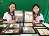 À Cân Tho, des collégiens font de l'art avec du riz et des matériaux recyclés