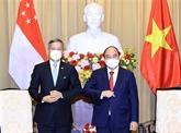 Le président vietnamien reçoit le ministre singapourien des AE