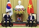 Le président vietnamien reçoit le ministre sud-coréen des Affaires étrangères