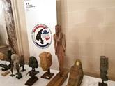 Restitution à l'Égypte de 114 pièces d'antiquité sorties illégalement du pays