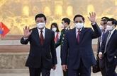 Les dirigeants vietnamien et lao s'accordent sur les orientations de la coopération