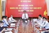 Les agences de représentation vietnamiennes à l'étranger étudient la Résolution du Parti