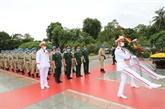 Cérémonie de commémoration de l'Oncle Hô des officiers de l'Hôpital de campagne de niveau 2 N°2