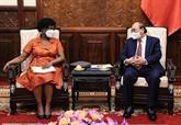 Le président Nguyên Xuân Phuc rencontre la vice-présidente de la BM, Victoria Kwakwa