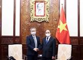 Le président Nguyên Xuân Phuc reçoit l'ambassadeur du Japon à Hanoï