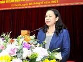La vice-présidente Vo Thi Anh Xuân travaille à Hà Giang