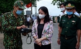 La vice-présidente vietnamienne rend visite aux forces anticoronavirus à An Giang