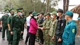 La vice-présidente de la République rend visite aux forces anti-épidémiques