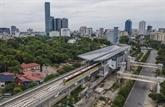Premiers essais pour la section surélevée de la ligne de métro Nhôn - gare de Hanoï