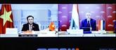 Entretien en ligne entre les présidents des Assemblées nationales Vietnam - Hongrie