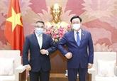 Le président de l'Assemblée nationale reçoit l'ambassadeur des Philippines