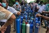 Virus : Au Myanmar, à la recherche d'oxygène dans les rues de Rangoun