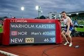 Athlétisme : Warholm couronné roi du 400 m haies à domicile
