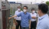 Le vice-Premier ministre Vu Duc Dam inspecte le contrôle anti-COVID-19 à Binh Duong