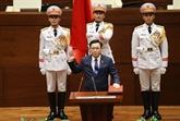 Le président de l'organe législatif chinois félicite le président de l'AN, Vuong Dinh Huê