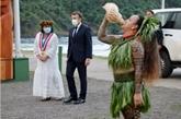 Macron, premier président à visiter les Marquises, candidates à l'UNESCO