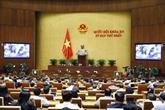 La 8e journée de travail de la première session de la XVe Assemblée nationale s'achève