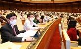 Résolution sur la structure organisationnelle du gouvernement avec 27 membres